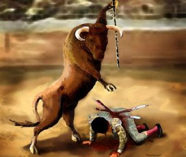 Rollentausch-Stierkampf